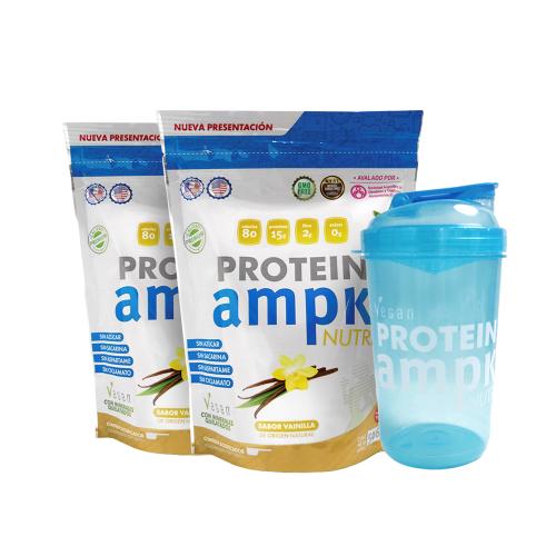 AMPK Protein Vainilla Combo x 2 + Shaker Azul