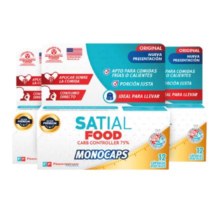 Satial Food Monocaps Pack x 3