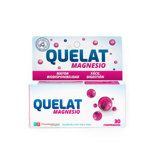 QUELAT Magnesio X30 Comprimidos Pack X24