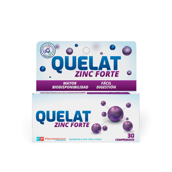 QUELAT Zinc Forte X30 Comprimidos Pack X12