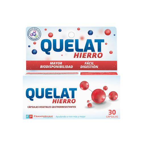 QUELAT Hierro X30 Capsulas Pack X12