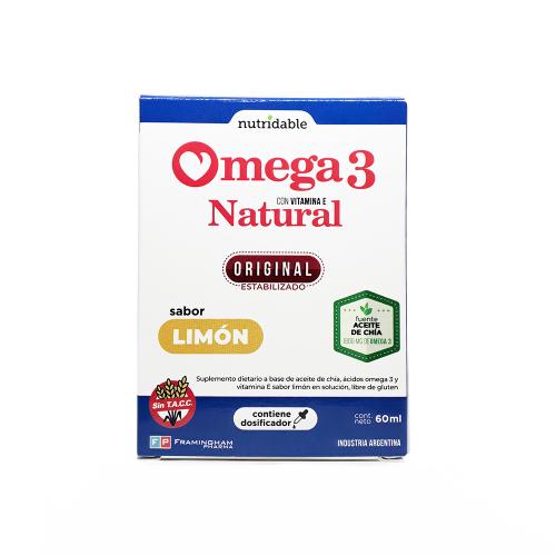 Omega 3 Natural En Gotas Limon- Aceite De Chía Y Vit. E- 60ml Pack X24