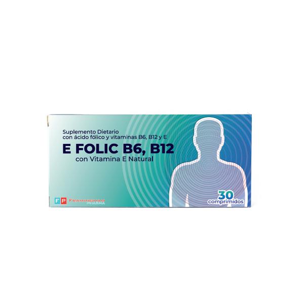 E FOLIC B6, B12 X30 Comprimidos Pack X12