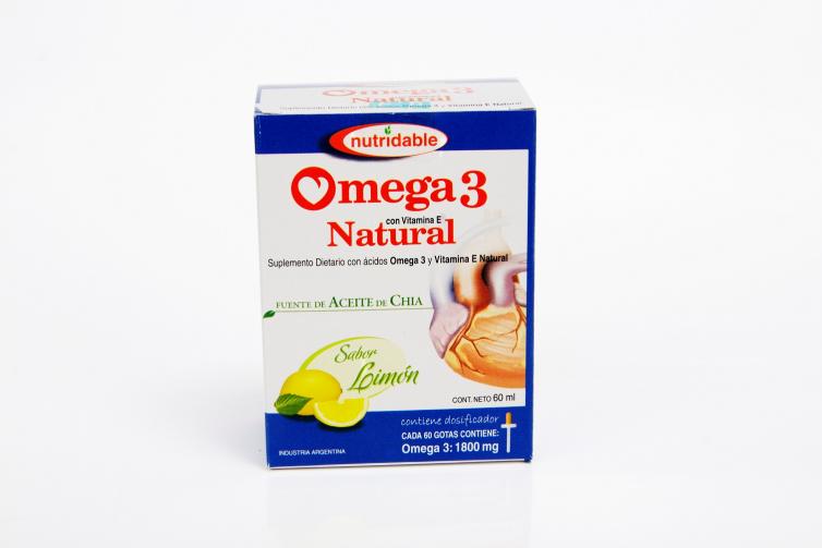 Omega 3 Natural en Gotas (Tradicional) sabor Limón