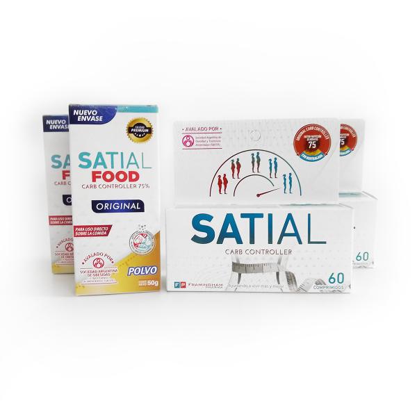 Combo Satial para 2 meses  (120 Comprimidos y 2 Satial Food)