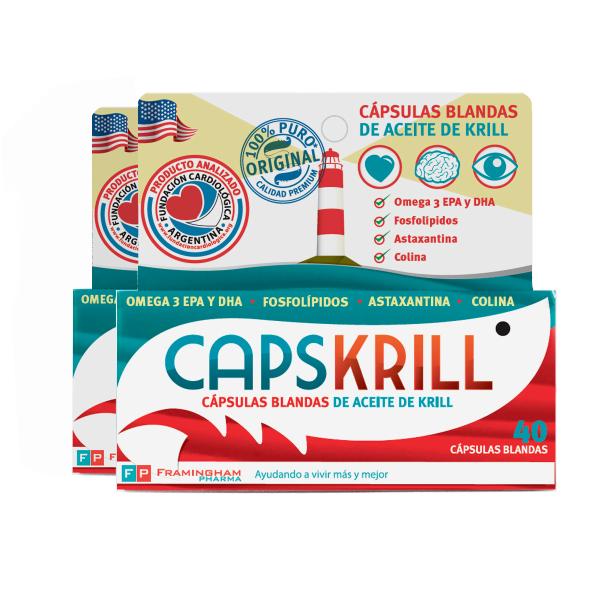 Combo CAPSKRILL 40 Cáspulas blandas X2 unidades