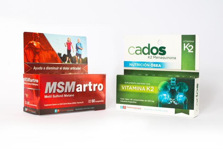 Combo MSM Artro 60 comp. + CADOS- Vitamina k2