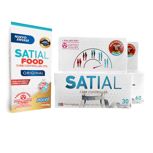 Combo Satial Carb Controller 90 comprimidos + Satial FOOD en polvo