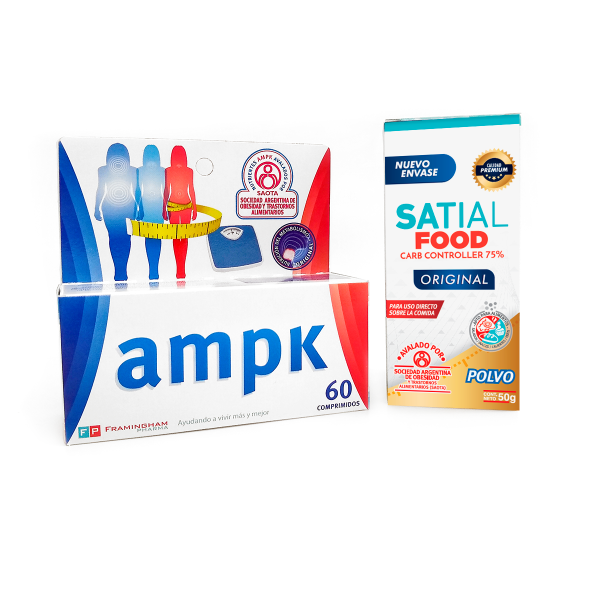 Super Oferta! Combo Satial Food + AMPK 60 Comprimidos