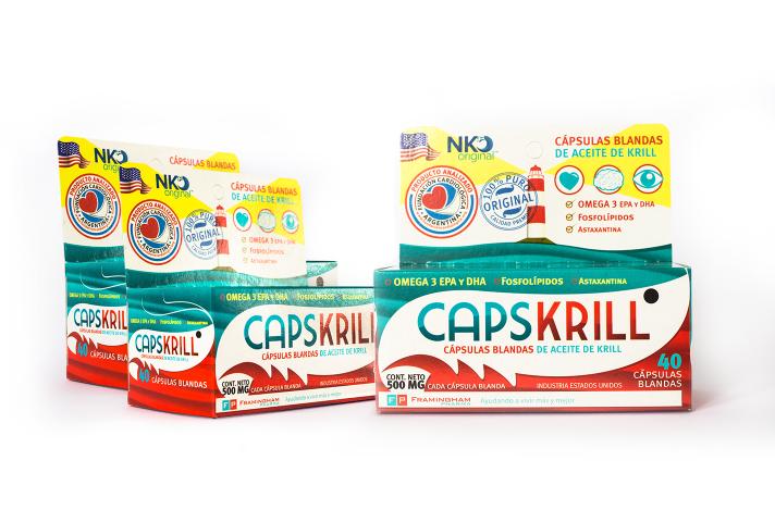 Combo Caps Krill 120 capsulas blandas (40 capsulas x 3)