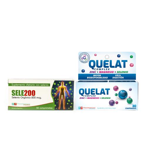 Combo Quelat Complex 30 comprimido + Sele200 30 comprimidos - Eleva tus defensas