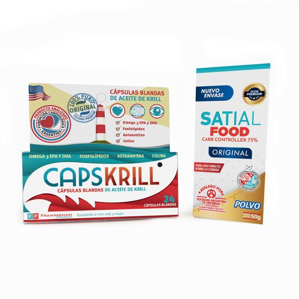 Combo Satial Food + Capskrill 24 cápsulas blandas