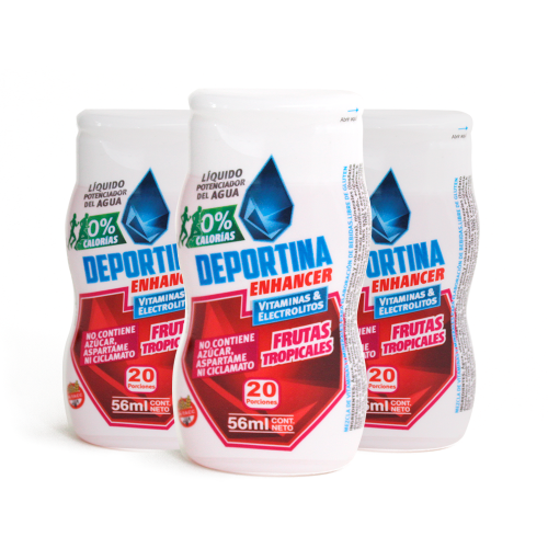 Deportina Enhancer  Pack x 3 - Frutas Tropicales