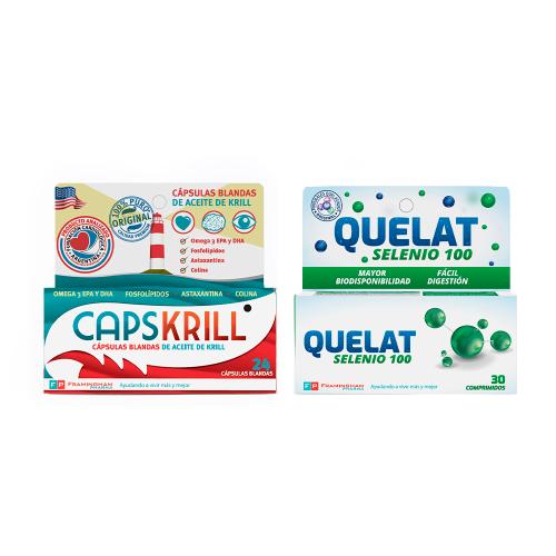 Pack Super Saludable - Oferta-  Quelat Selenio 30 comprimidos + Caps Krill 24 capsulas