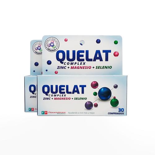 Oferta - Quelat Complex 2 cajas x 30 comprimidos c/u (60 comprimidos total)