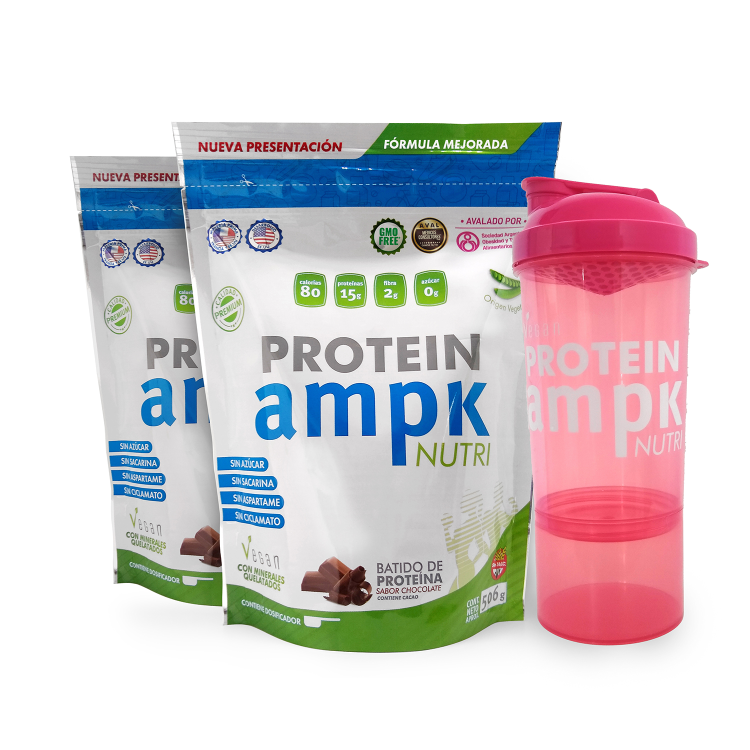AMPK Protein Combo x 2 + Shaker Rosa