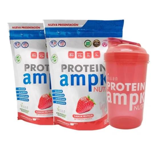 AMPK Protein Frutilla Combo x 2 + Shaker Rosa